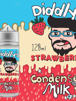 Diddly's Strawberry Condensed Milk – 120ml (3mg)